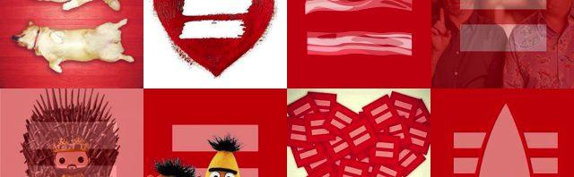 red facebook avatars